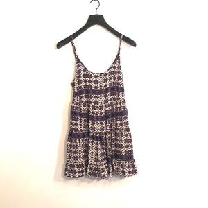 [Brandy Melville] Purple/White Sun Dress -One Size